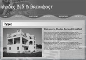 Rhodes Bed & Breafast (Not a real B&B) - (X)HTML, PHP, CSS, Flash
